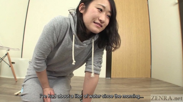 Japanese amateur endures pee challenge