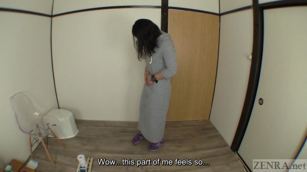 Japanese pee challenge with amateur woman