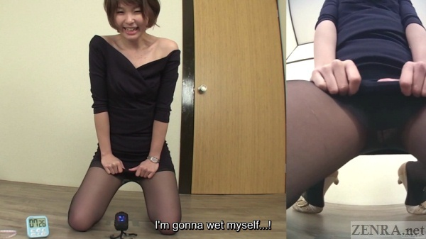 Japanese amateur wets herself
