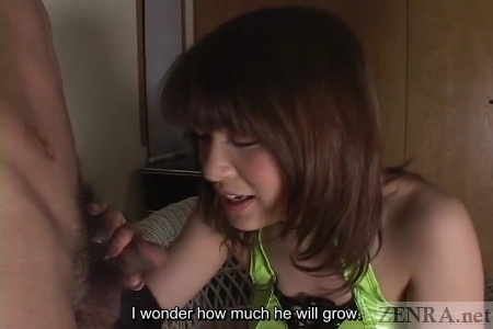 Uncensored Japanese woman gives handjob
