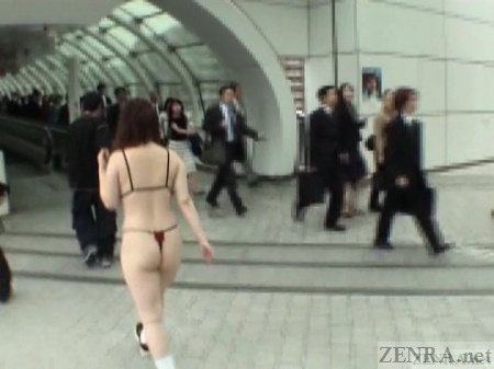Nearly naked Japanese extreme outdoor nudity