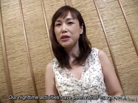 Japanese milf interviewed