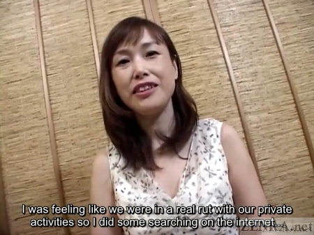 Japanese milf on affair sits down for interview