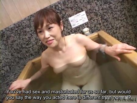 Bath time with Japanese milf on affair