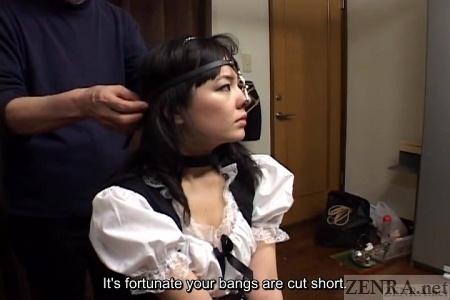 Japanese maid nose hook play egins
