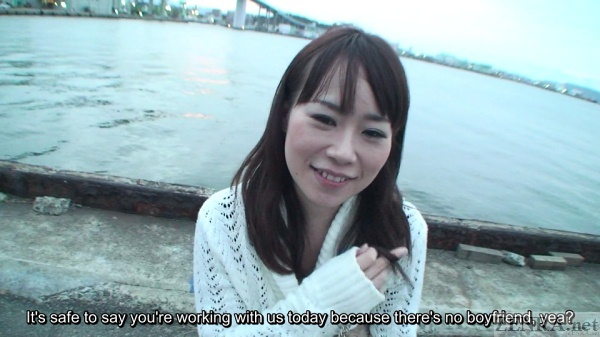 No boyfriend Japanese woman decides on AV