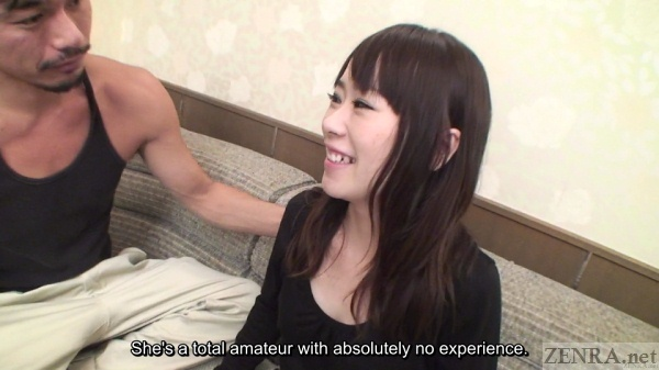 Japanese woman with no experience meets AV actor