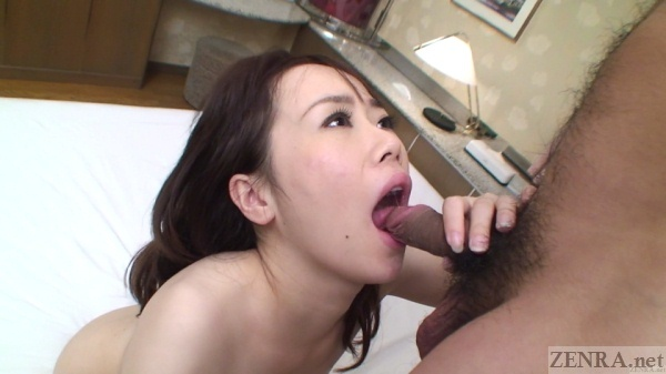 Uncensored Japanese glans licking oral sex