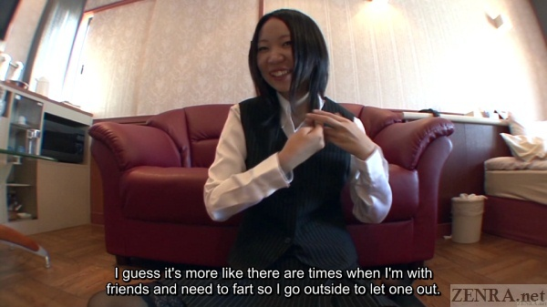 Japanese farting chat with amateur woman