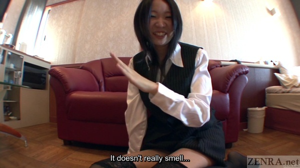 Not smelly farts by Japanese woman