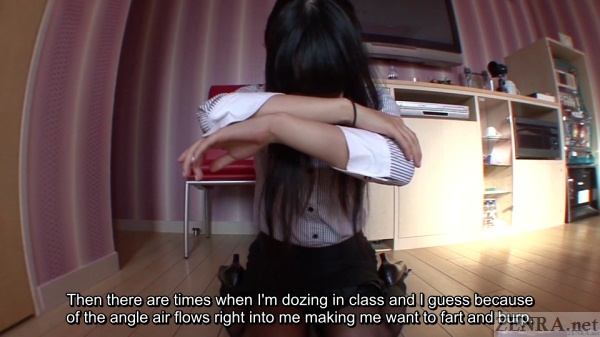 Japan college student classroom farting starting