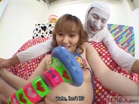 Huge massager surprise for Japanese AV star
