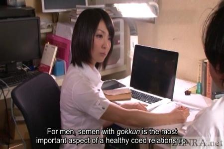 Gokkun lesson at Japanese college
