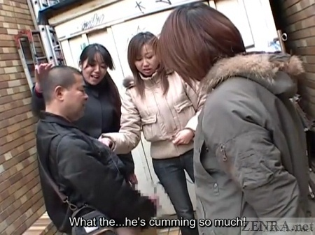 Japanese man masturbates in public