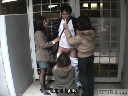 Parking lot Japanese public handjob