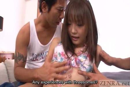 Japanese threesome begins
