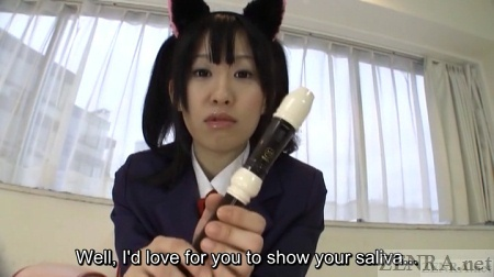 Yui Kyouno holds recorder