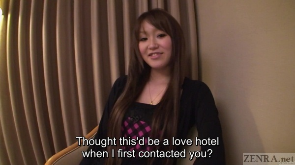 Japanese amateur in business hotel
