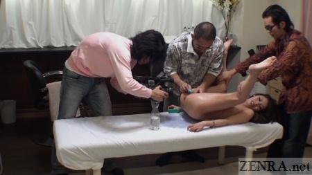 ENF CMNF vagina massage at salon in Japan