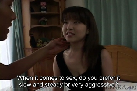 Japanese woman eager for foreplay