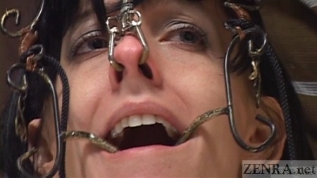 Japanese nose hooks crown on Elise Graves