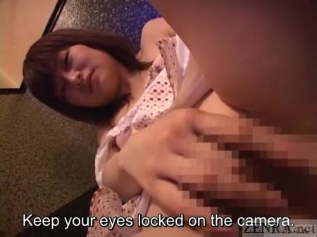 Masturbating Japanese wife on affair
