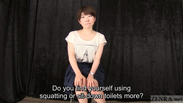 Japanese college student toilet interview