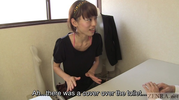 Japanese interview toilet prank confusion