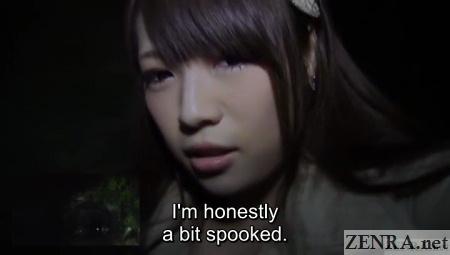 Scared Japanese AV star Yuri Satou