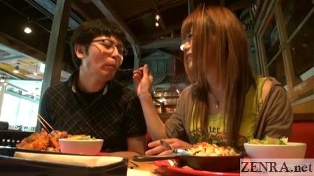 Japanese cross-dresser on a date