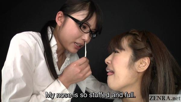 Japanese lesbian sneeze teasing