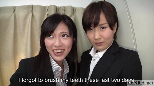 Bad hygiene amongst Japanese office ladies