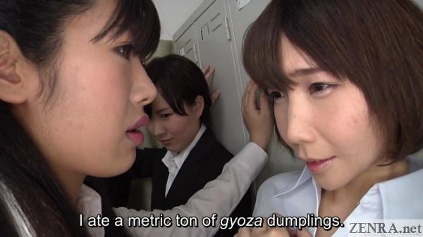 Yuko Ohashi lesbian office lady teasing