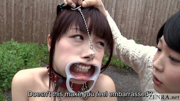 image Subtitles bizarre japanese nose hook bdsm spanking