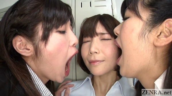 Bullying by bad breath with Japanese office ladies
