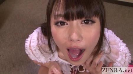 Japanese gokkun play with Sakurai Ayu