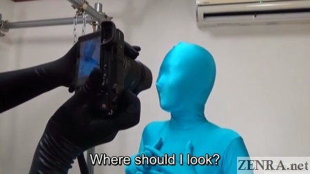 Photography session in a Zentai suit