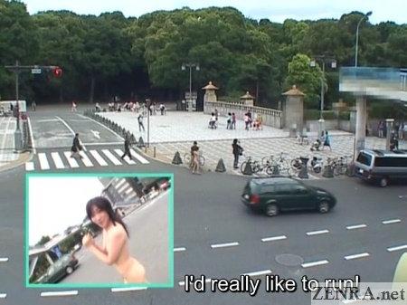 Japanese nudist walks around Tokyo