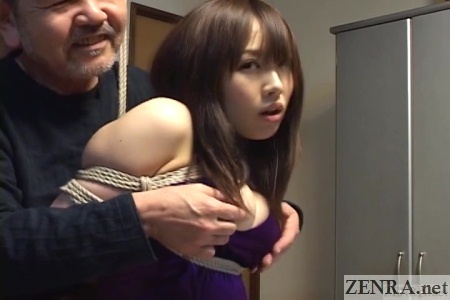 Japanese woman with big breasts groped