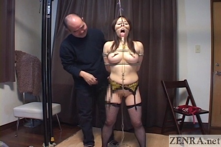 Pale CMNF Japanese extreme BDSM