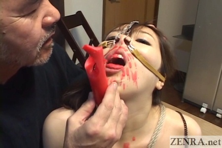 Red hot candle wax play in Japan