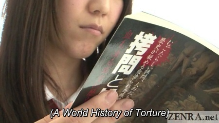 Torture book read by curious Japanese schoolgirl