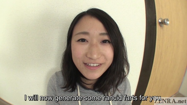 Chirpy Japanese amateur makes smelly farts