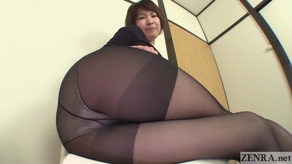 Pantyhose legs crossed farting Japanese amateur