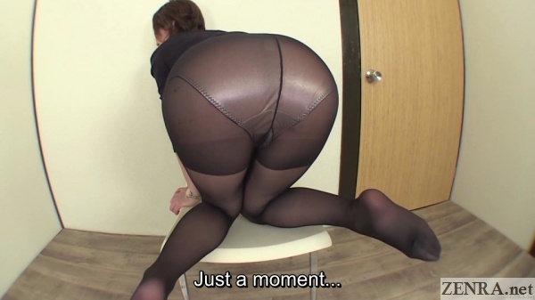 Ebony girl farting in pantyhose