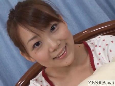 Smiling Chihiro Hasegawa