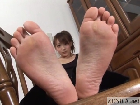 Japanese feet up close