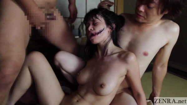 Kuchisake onna cumshots to face