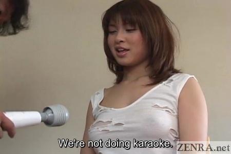 Massager mistaken for microphone