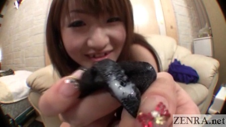 Dirty Japanese AV star panties